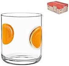 Bormioli Rocco 390700M02321731 Giove Agua 31 cl Sellos Naranja