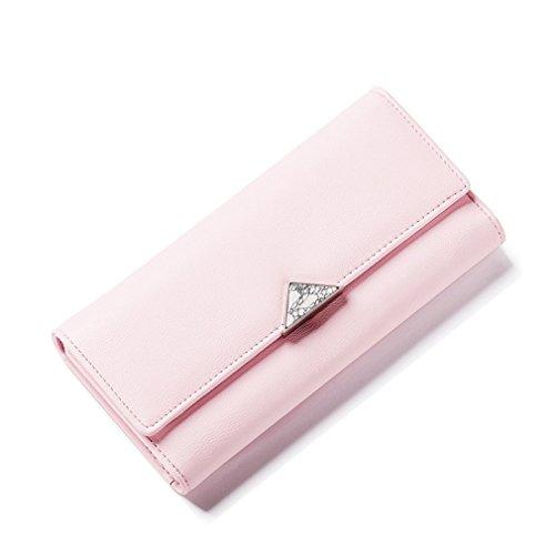 Yueling Geometrische Naturstein Frauen Geldbörse Burgund Viele Abteilungen Weibliche Geldbörsen Mode Damen Lange Geldbörse Pink