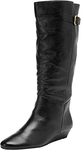 STEVEN by Steve Madden Women's Intyce Riding Boot,Black,6.5 M