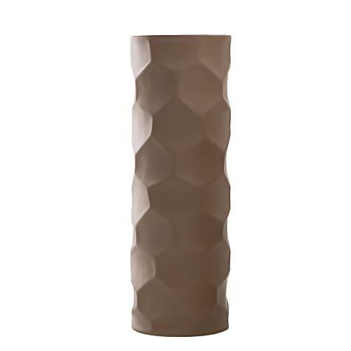 HCHLQLZ 30cm Marron Decorativos Modernos Ceramica Jarrones de Flores para Mesa de Comedor Sala de Estar Idea Regalo para Cumpleanos Boda Navidad