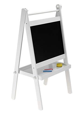 Spetebo Kindertafel 80cm inkl. Schwamm und Kreide - Kinder Standtafel Kreidetafel Schreibtafel Schultafel
