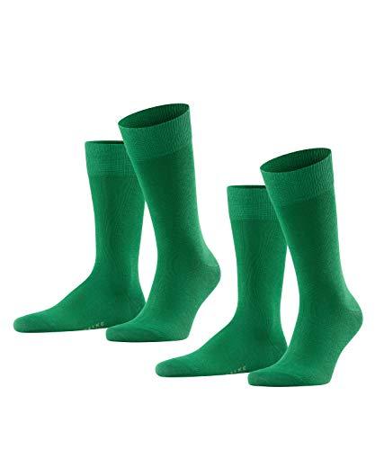 FALKE Herren Happy 2-Pack M SO Socken, Blickdicht, Grün, 39-42 (2er Pack)