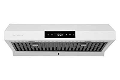 "Hauslane | Chef Series 30"" PS18 Under Cabinet Range Hood, Matt White 