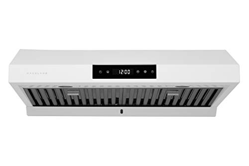 "Hauslane | Chef Series 30"" PS18 Under Cabinet Range Hood, Matte White 