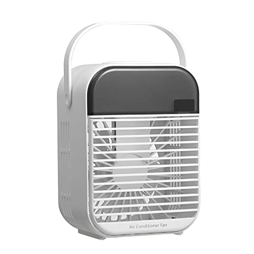Non-brand Personal Air Cooler, Portable Air Conditioner Fan, Evaporative Air Cooler, Quiet 3 Humidifier, Desktop Fan for Room, White