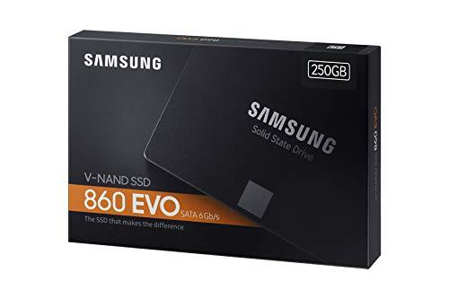 Samsung MZ-76E250B/EU 860 EVO 250 GB SATA 2,5 Interne SSD Schwarz