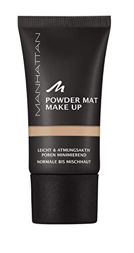Manhattan Powder Mat Make-up, Mattierendes Puder und Foundation in einem, Farbe Warm Sand 83, 30 ml