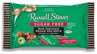 Russell Stover Sugar Free Dark Chocolate Pecan Delight, 10 oz. Bag