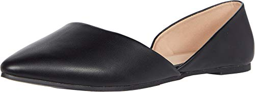Rohb by Joyce Azria Provence D'Orsay Pointy Toe Flat (Black Pu) Size 7