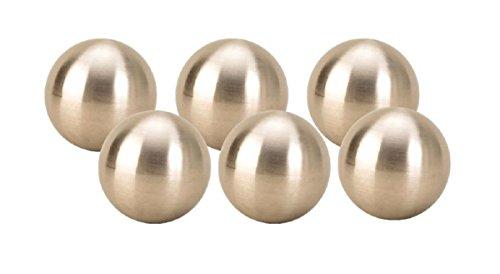 Geschenkestadl 6 x Dekokugel in Silber matt ca. Ø 6 cm Edelstahl Rosenkugel Garten Kugel Weihnachten