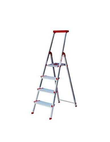 Escalera Rolser Aluminio Brico 220 4 Peldaños anchos