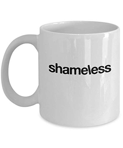 Wistty Shameless Tv Series Logo Taza de café Taza (Blanco) 11oz Shameless Tv Show Series Cita de comedia Sitcom Regalos Merchandise Accesorios Calcomanía Decoración Pegatina Camisa