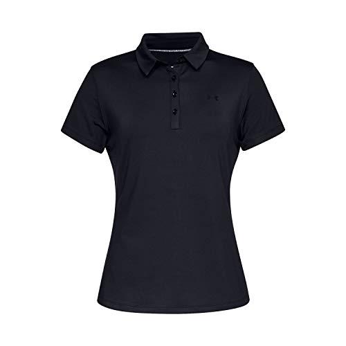 Under Armour Zinger Short Sleeve Polo, Mujer, Negro (Black/Black/Black 001), S