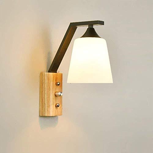 Aplique de Pared LED Iluminación de interior pared del estilo de la lámpara moderna Habitación Sala de pared de luz de pared de madera accesorios de iluminación Focos de pared 110V-240V E27