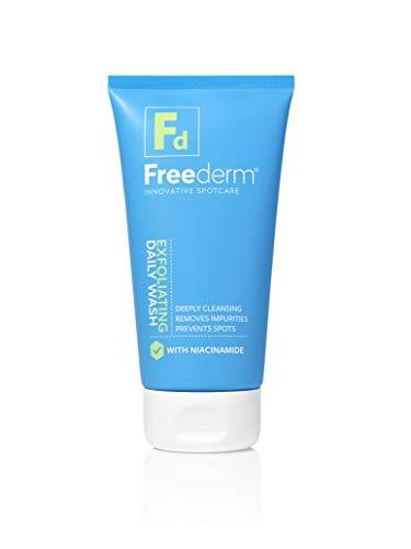 FREEDERM Jabón facial exfoliante diario para pieles propensas a manchas para eliminar el exceso de aceite y suciedad, evita manchas, con niacinamida, tubo, 150 ml