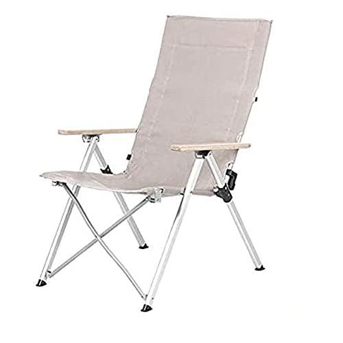 DDLONY Silla Plegable para Acampar, Respaldo Ajustable de Tres velocidades, con Bolsa de Transporte, Apta para Actividades al Aire Libre, acampadas, picnics, Senderismo, ca