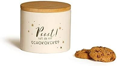 Baden Ruft da EIN Schokokeks, Psst wei/ß 1178145 Porzellan Keksdose mit Deckel