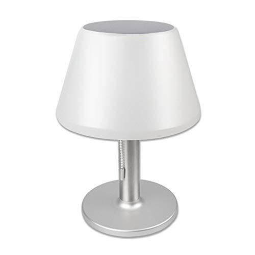 Solar Tischlampe, wasserdicht Edelstahl solarbetriebene Tischleuchte Indoor Outdoor Nachtlicht Leselampe für Nachttisch, Schlafzimmer(28 x 20 x 20cm)