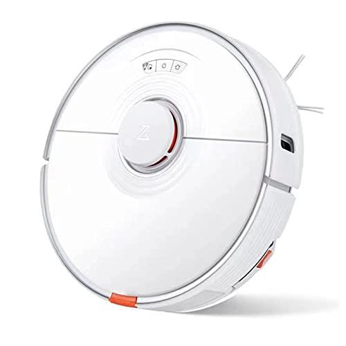 Roborock S7 Robot Aspirador, 3000 Vibraciones por Minuto, Elevación Automática de La Mopa, 2500 Pa de Aspiración, Control por voz, Planificación Inteligente de Rutas y Función de Detección (Blanco)