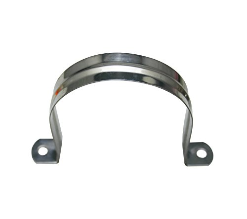 Amanaote Stainless Steel 3.2 Inches Diameter Tube Strap Tension Clip Pipe Clamp(Pack Of 6 Sets)
