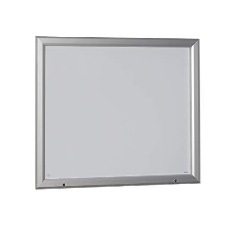 OFFICE AKKTIV Vitrine d'affichage à cadre aluminium, pour l'intérieur et l'extérieur - avec porte ouvrant vers le haut - l x h ext. 1465 x 1067 mm, capacité 18 feuilles A4 - vitrine d'affichage vitrine de présentation vitrine murale vitrine pour affiches