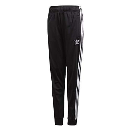 adidas Originals unisex-youth SST Track Pants Black/White Medium