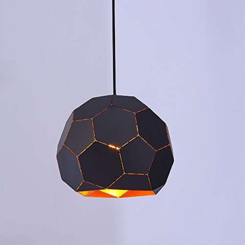 XUMIMI AIModerne Macaron fuball kronleuchter einzigen Kopf hohl Eisen Decke pendelleuchte für Restaurant bar Cafe Dekoration hngen Beleuchtung (ohne glühbirne)