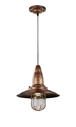 Trio Fisherman - Lámpara colgante, color antigue cobre
