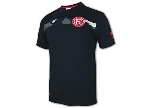 uhlsport Fortuna Düsseldorf Kinder T-Shirt schwarz F95 Fan Shirt Junior Jersey, Größe:164