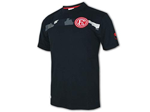 uhlsport Fortuna Düsseldorf T-Shirt schwarz F95 Fan Shirt Fanartikel Jersey, Größe:XL