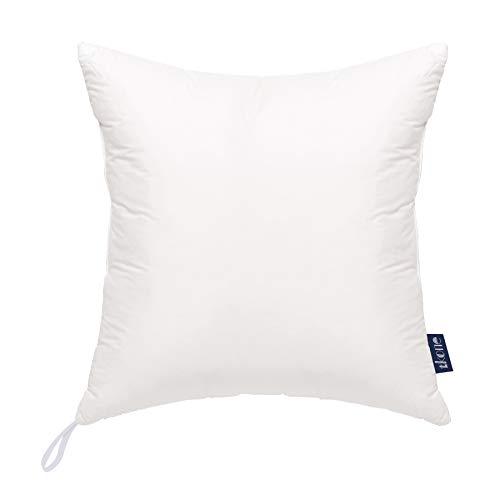 tkone クッション 枕 ヌードクッション 中身 高反発 抱き枕 柔らかい 圧倒的ボリューム感 型崩れしない吸汗 速乾 洗える 背当て ピロー 45×45cm 1個セット(45X45cm・1個セット アイボリー)
