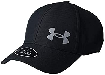 Under Armour Men s Iso-Chill Armourvent Fitted Baseball Cap  Black  001 /Pitch Gray  Medium/Large