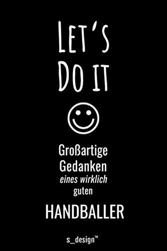 Notizbuch für Handballer / Handball-Spieler: Originelle Geschenk-Idee [120 Seiten liniertes blanko Papier ]