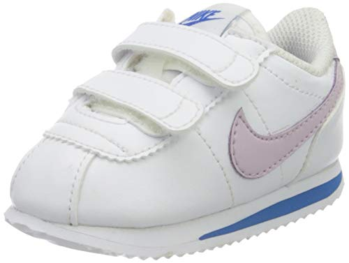 Nike Cortez Basic SL TDV, Zapatillas de Gimnasio, Blanco (Iced Lilac/Soar/Mtlc Silver), 34 EU