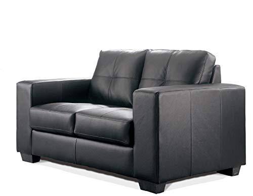 Sofa Madelaine/Designercouch/Polstercouch/Couch 2-Sitzer Pellissima/Sessel/Kunstleder - schwarz