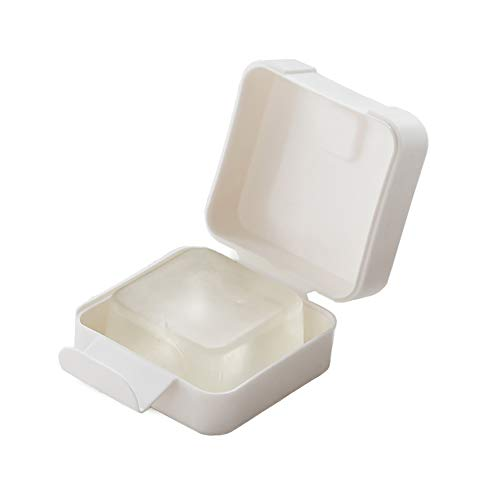 LeerKing Travel Soap Case, Eco-Friendly Mini Travel Soap Box Outdoor Hiking Camping Soap Dish Holder Case Container White