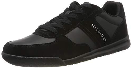 Tommy Hilfiger Lightweight Mix Detail Sneaker, Scarpe da Ginnastica Basse Uomo, Nero (Black 990), 42 EU