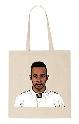 Lewis Hamilton Funny natürliche organische Tasche / natural organic Bag (Beige