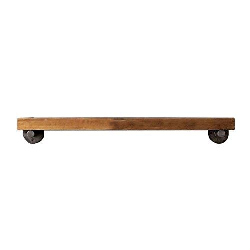 Étagères flottantes de mur de fer en métal et bois pour la cuisine de salon de barre / étagère de cube accrochant de mur de LOFT pour la chambre comme support de stockage d'étagère / Cadre d'unité flottante de panneaux muraux de style industriel rétro comme conception de décoration de mur / disponible dans une variété de tailles-3 cm d'épaisseur (120*20 CM)