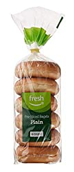 Fresh Brand – Plain Pre-Sliced Bagels, 21 oz (6 ct)