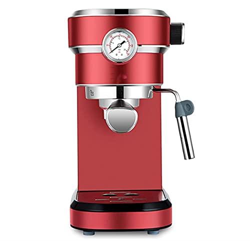 Ekspres do kawy Duża pojemność i wysoki efektywność ekspres do kawy, sejf i sucho mała szlifierka biurowa w domu 1,1l (Color : Red)