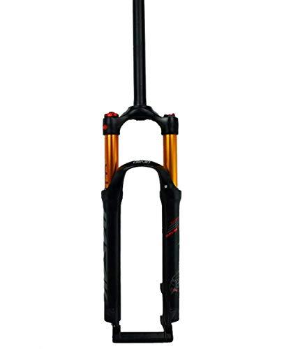 WYJW 26'27,5' 29 MTB Horquilla de suspensión Recorrido 100 mm 28,6 mm Tubo Recto QR 9 mm Bloqueo de Corona Aleación de magnesio Horquillas Delanteras de Bicicleta de montaña
