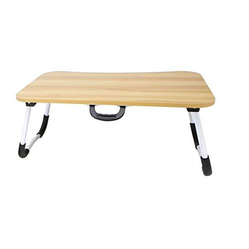 Smallrun* Mesa de Ordenador portatil para Cama y sofá, Soporte para Ordenador portátil, Mesa Plegable, portátil, Bandeja de Desayuno Mesa de Cama multifuncion (Marron)