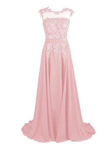 DRESSTELLS Long Bridesmaid Dress Applique Prom Dress Evening Party Gowns Blush Size 16