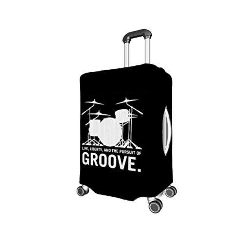 Fanaxii Trommel Groove - Funda elástica para Maleta con Cremallera, 18-32 Pulgadas Blanco Blanco m (22-24 Inch)