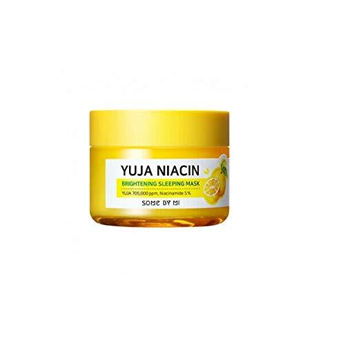 Some by Mi Yuja Niacin Brightening Sleeping Mask (2.12oz 2.11 oz) YUJA, extracto de niacinamida, cuidado hidratante para jóvenes