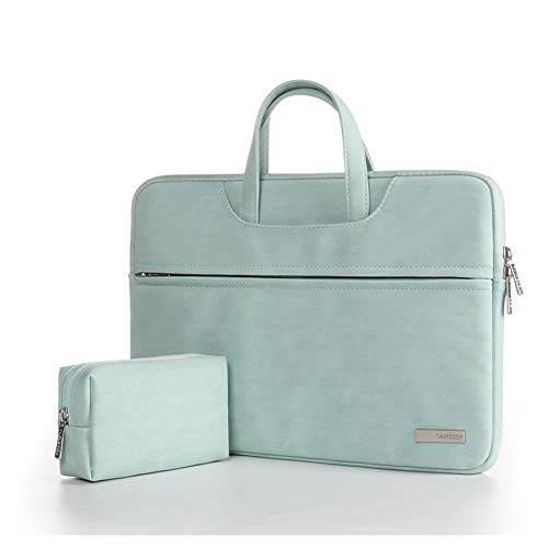 ZH 15.6 Inch Laptop & Tablet Fashion Travel Backpack Case Briefcase Case Computer Shoulder Hand Bag,green