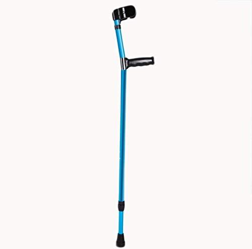 Muleta plegable portátil - Caminante ajustable de aluminio - Codo de caña para jóvenes y ancianos (Single)