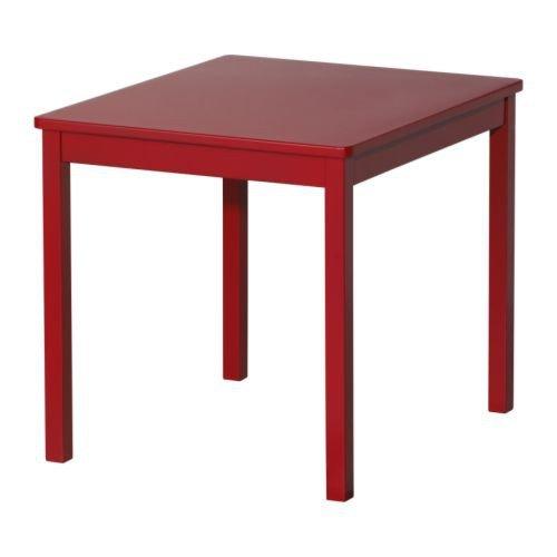 IKEA KRITTER para niños con diseño de lámpara de mesa en colour rojo, de madera maciza de madera de álamo; (59 x 50 cm)