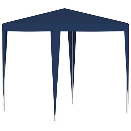 vidaXL Partyzelt UV-beständig Wasserbeständig Pavillon Festzelt Gartenzelt Gartenpavillon Bierzelt Zelt Garten Party 2x2m Blau Stoff Eisen